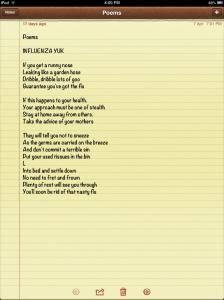 Influenza Poem