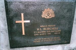 Henry Lloyd (Mick) Buirchell Kojonup Cemetery