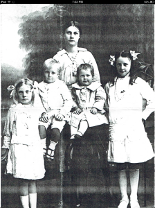 Mick id the baby with his sisters and brother Bonny