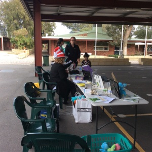 Cric Croc table set up at Huntingdale PS
