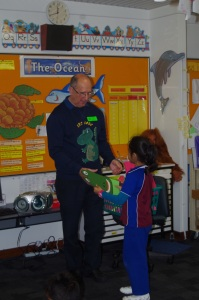 Parkwood IEC students thank author Anthony W Buirchell for talking to them about his book Cric Croc